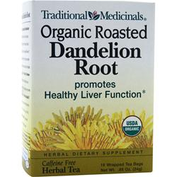TRADITIONAL MEDICINALS Organic Roasted Herbal Tea Dandelion Root 16 pckts