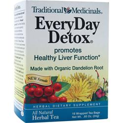 TRADITIONAL MEDICINALS EveryDay Detox Herbal Tea 16 pckts