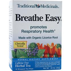 TRADITIONAL MEDICINALS Breathe Easy Herbal Tea 16 pckts