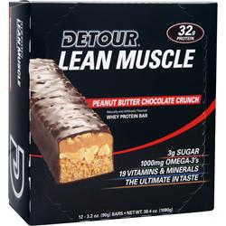 Forward Foods Detour Lean Muscle Bar Peanut Butter Choc Crunch 12 bars