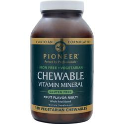 Pioneer Chewable Vitamin Mineral (Iron-Free) Fruit Flavor Multi 180 chews