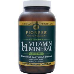 Pioneer 1+1 Vitamin Mineral 120 vcaps
