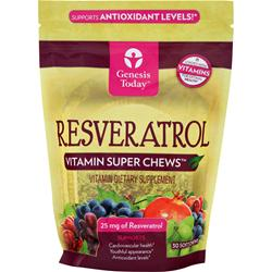 GENESIS TODAY Resveratrol (25mg) - Vitamin Super Chews 30 chews
