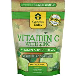 GENESIS TODAY Vitamin C with Zinc - Vitamin Super Chews 30 chews