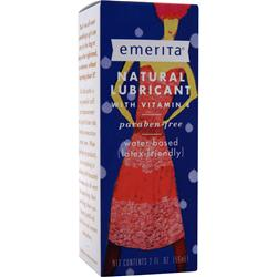 EMERITA Natural Lubricant with Vitamin E 2 fl.oz
