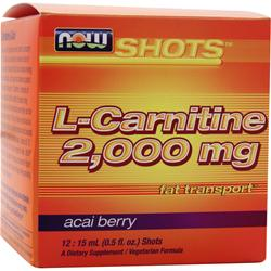 NOW L-Carnitine (2000mg) Best by 9/14 12 vials