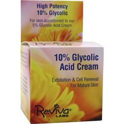 REVIVA LABS 10% Glycolic Acid Cream 1.5 oz