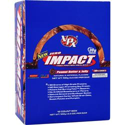 VPX SPORTS Zero Impact Bar Peanut Butter & Jelly 12 bars