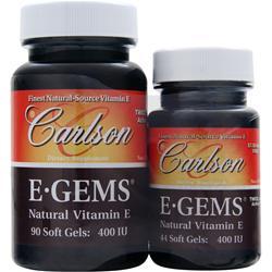 Carlson E-Gems (400IU) 90+44 Shrink Wrap 134 sgels