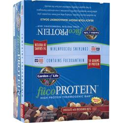GARDEN OF LIFE Fuco Protein Bar Chocolate Macadamia 12 bars