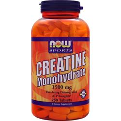 Now Creatine Monohydrate (1500mg) 250 tabs