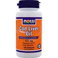 Now Cod Liver Oil (425mg) 100 sgels