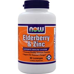 NOW Elderberry & Zinc 90 lzngs