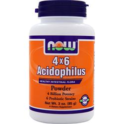 Now 4 x 6 Acidophilus Powder 3 oz