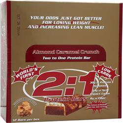 METRAGENIX 2:1 Protein Bar Almond Caramel Crunch 12 bars