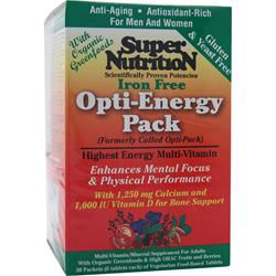 SUPER NUTRITION Opti-Energy Pack (Iron Free) 30 pckts