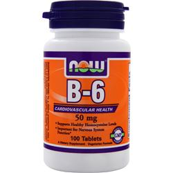 NOW B-6 (50mg) 100 tabs