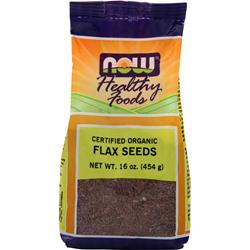 NOW Flax Seeds - Certified Organic 1 lbs