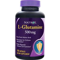 Natrol L-Glutamine (500mg) 100 caps
