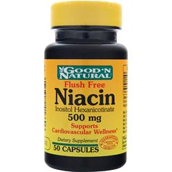 GOOD 'N NATURAL Niacin (500mg) - Flush Free 50 caps