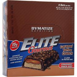 Dymatize Nutrition Elite Gourmet Protein Bar - Snack-Size Caramel Toffee 6 bars
