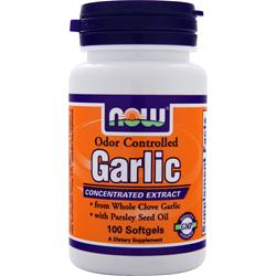 NOW Garlic - Odor Controlled 100 sgels