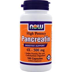 NOW Pancreatin 4X (500mg) 100 caps