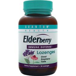 QUANTUM Elderberry Lozenges Raspberry 36 lzngs