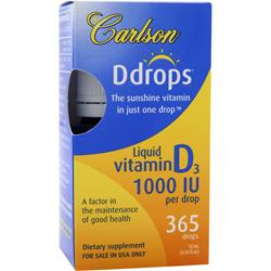 CARLSON Ddrops - Liquid Vitamin D3 (1000IU) 10 mL