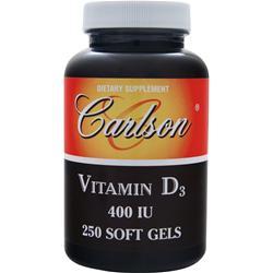 CARLSON Vitamin D3 (400IU) 250 sgels
