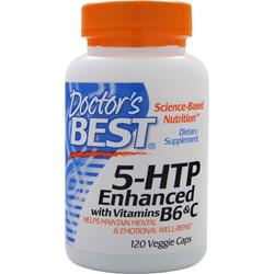 DOCTOR'S BEST 5-HTP Enhanced with Vitamins B6 &C 120 vcaps
