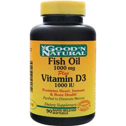 Good 'N Natural Fish Oil plus Vitamin D3 90 sgels