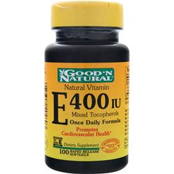 GOOD 'N NATURAL Vitamin E (400IU) Mixed Tocopherols 100 sgels