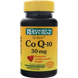 GOOD 'N NATURAL Co Q-10 (30mg) 100 sgels