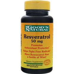 Good 'N Natural Resveratrol (50mg) 60 sgels