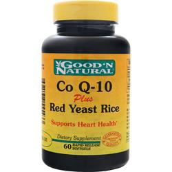 GOOD 'N NATURAL Co Q-10 plus Red Yeast Rice 60 sgels