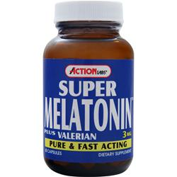ACTION LABS Super Melatonin (3mg) plus Valerian 60 caps
