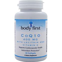 BODY FIRST CoQ10 (400mg) with Lecithin and Vitamin E 60 sgels