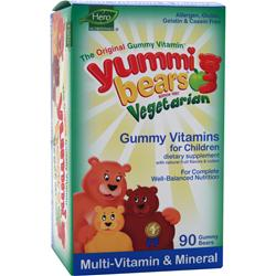 YUMMI BEARS Vegetarian Multi-Vitamin and Mineral Sour 90 bears