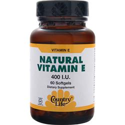COUNTRY LIFE Natural Vitamin E (400IU) 60 sgels