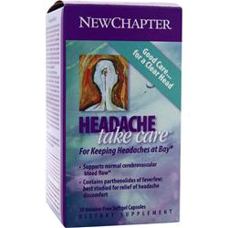 New Chapter Headache Take Care 30 sgels