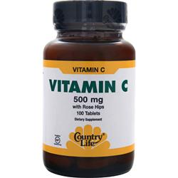 Country Life Vitamin C with Rose Hips (500mg) 100 tabs