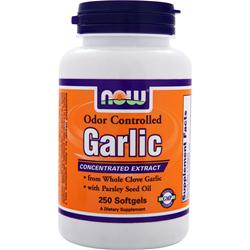 NOW Garlic - Odor Controlled 250 sgels