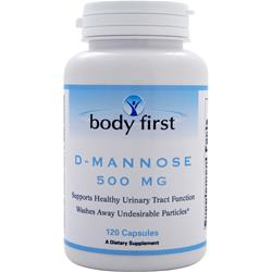 BODY FIRST D-Mannose (500mg) Best by 6/14 120 caps