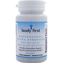 BODY FIRST Resveratrol with Red Wine Extract - Extra Strength 60 vcaps