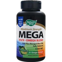 NATURE'S WAY Mega 3/6/9 Omega Blend - Maximum Strength 90 sgels