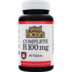 NATURAL FACTORS Complete B (100mg) Time Release 90 tabs