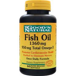 GOOD 'N NATURAL Fish Oil (1360mg) 60 sgels