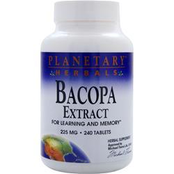 PLANETARY FORMULAS Bacopa Extract (225mg) 240 tabs