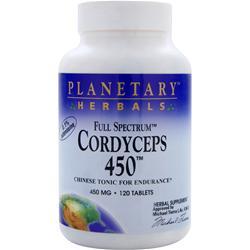 Planetary Formulas Full Spectrum Cordyceps 450 120 tabs